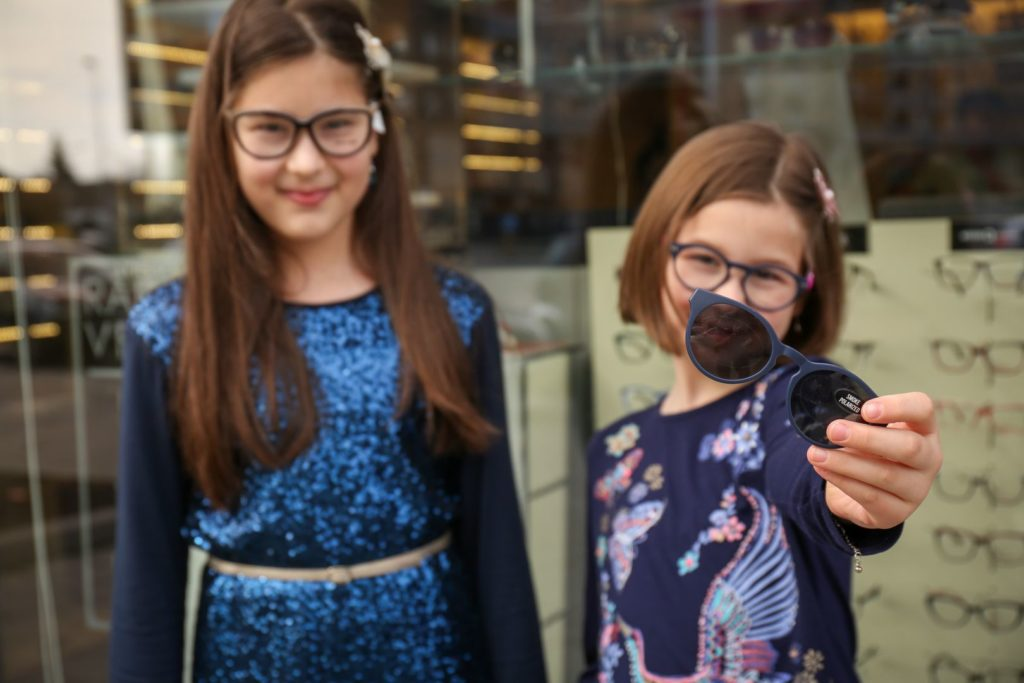 Dioptrijske naočare za decu sa magnetnim klipom za sunce